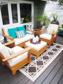 Outdoor Rugs For Decks And Patios Bold Patterns And Bright Colors Transform Your Outdoor Space Alena Kirby Alena Kirby