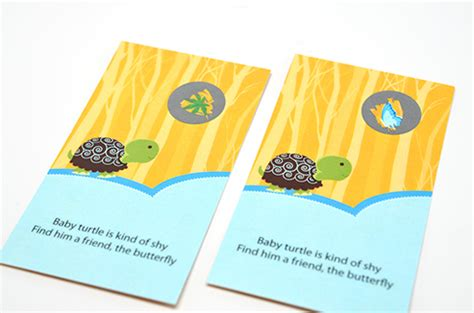 Baby Shower Scratch Tickets by Baby Turtle Blue Baby Shower Scratch Pack