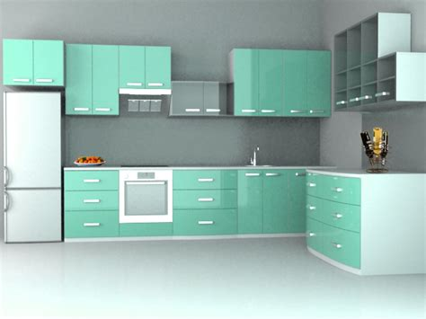 kitchen interiors images beautiful modular kitchen interior white green way2nirman