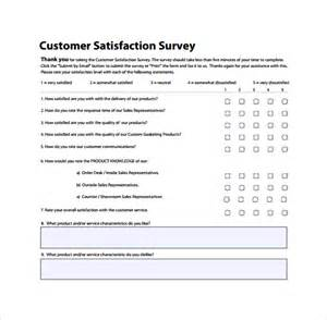 Customer Template by Customer Survey Template 5 Free Documents In Pdf
