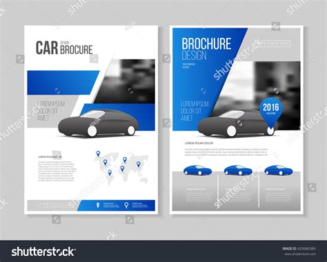 auto layout presentation car brochure auto leaflet brochure flyer stock vector
