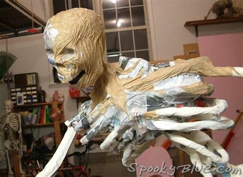 How To Make A Paper Bone - build a paper mache skeleton finish out spookyblue