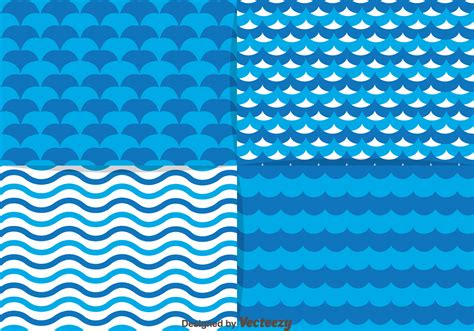water patterns blue water element pattern download free vector art