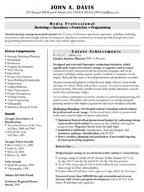 Director Resume Exles by Creative Services Manager Resume Resume Ideas