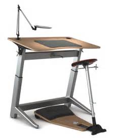 Ergonomic standing workstation focal locus standing workstation