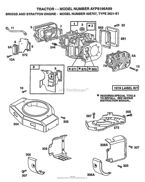 briggs and stratton engine diagram ayp electrolux 8196a89 1998 parts diagram for briggs and