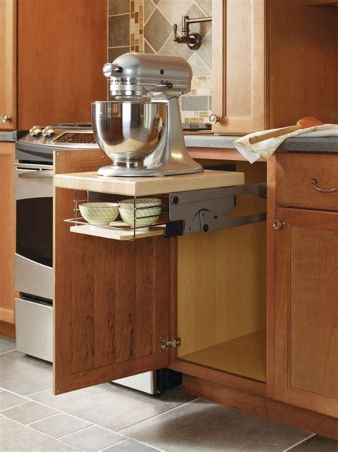 kitchen cabinet mixer lift this mixer cabinet by thomasville cabinetry frees up