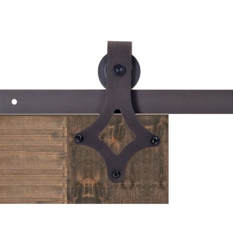 Calhome 72 In Antique Bronze Rustic Star Barn Style Track Barn Door Hardware