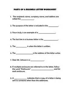 Business Letter Labeled 17 Best Images Of Business Letter Worksheet Business