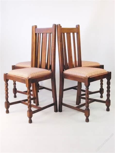 set 4 vintage oak dining chairs circa 1920s antiques atlas