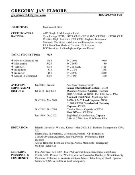 Pilot Resume Examples Template 5 Free Word Pdf