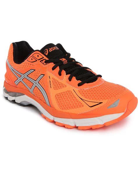 asics black sneakers asics gt 2000 3 orange silver black sneakers in orange for