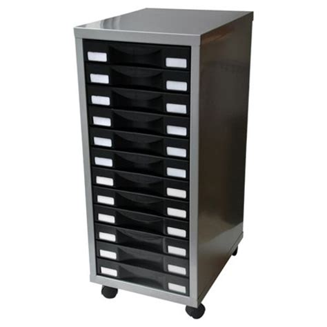Buy Pierre Henry A4 12 Drawer Multi Filing Cabinet, Silver