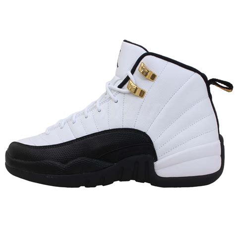 air womens basketball shoes nike air 12 xii retro gs taxi white black youth