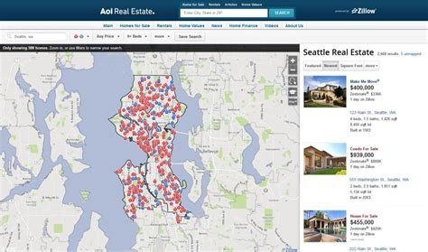 zillow home search new zillow powering for sale and for rent listings on aol real