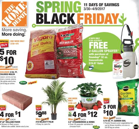 home depot weekly ad preview 3 30 17 4 9 17 the weekly ad