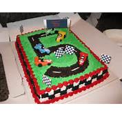 Race Car Track Birthday Cake — Cakes
