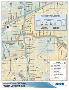 tollway authority map fourth coming to portions of bush turnpike in 2016