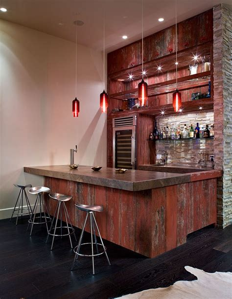 rustic bar ideas home bar rustic with slate floor chair