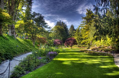 Butchart Gardens Victoria Full Hd Wallpaper And Background Garden Wall Paper