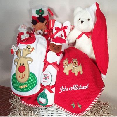 merry christmas baby gift basket personalized