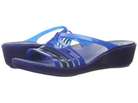 Crocs Isabela Wedges 4 crocs mini wedge cerulean blue zappos free shipping both ways