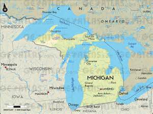map of canada and michigan geoatlas united states canada michigan map city