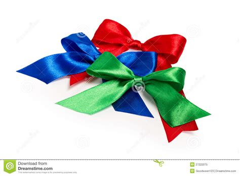 festive bows made of ribbon royalty free stock photo
