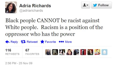 Couric Why Didnt You Use The Power Of by Quotes Did Adria Richards Tweet Quot Black Cannot Be