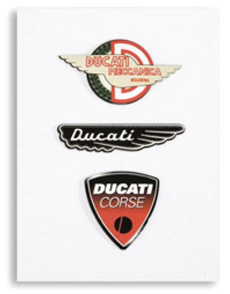 Ducati 3d Sticker by Ducati 3d Logo Sticker Kit Meccanica Wing And Corse Decal
