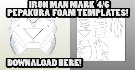 download iron man mark 4 6 pepakura foam template files