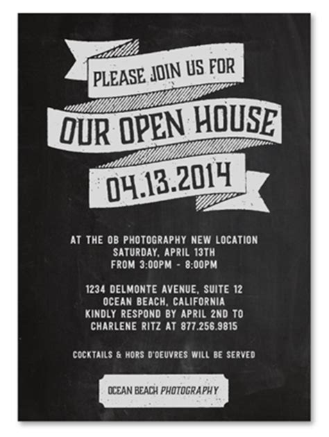 business event invitations ~ open house by green business