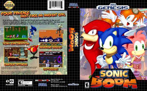 sonic heroes sega genesis sonic boom genesis box cover by heroxeus12