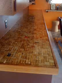 Cork Countertop Wine Cork Countertop After Sealing Cork Ideas Pinterest