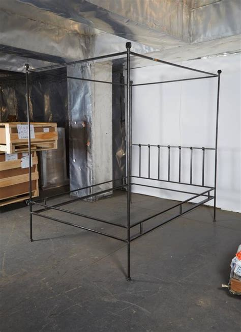 Iron Four Poster Bed Frames Polished Iron Four Poster Bed Frame For Sale At 1stdibs