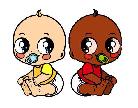 imagenes para relajar niños dibujo de beb 233 s gemelos pintado por elenart en dibujos net
