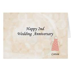 happy 2nd wedding anniversary greeting card zazzle