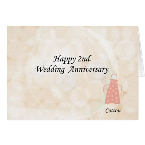 2nd Anniversary Wedding by Happy 2nd Wedding Anniversary Cards Zazzle