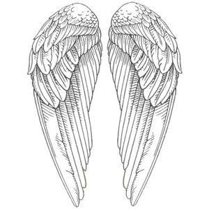 solitary angel tattoo hull drawn crown angel wing 3297822