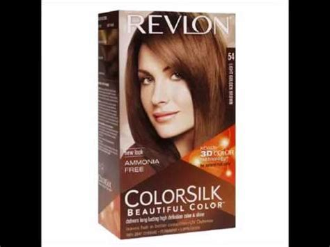 Revlon Colorsilk 54 Lgold Brown revlon colorsilk beautiful color light golden brown 54 1
