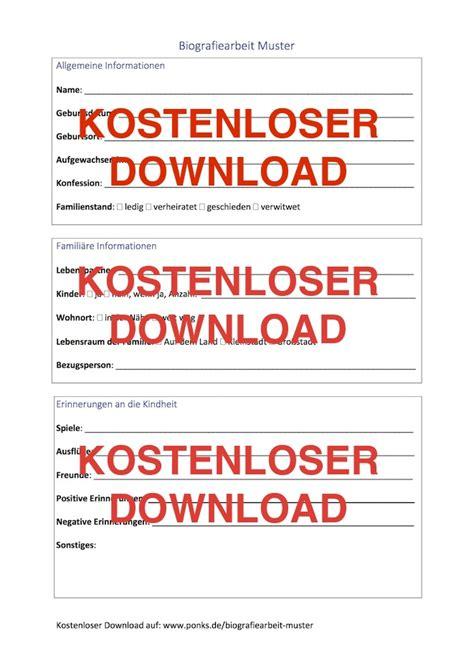 Biographie Vorlagen Muster by Biografiearbeit Muster Ponks Die Beste Pflegeseite