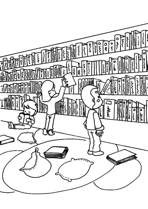 color library school library coloring pages az sketch coloring page