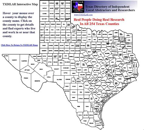 interactive texas county map auctions real estate deals local rates county data