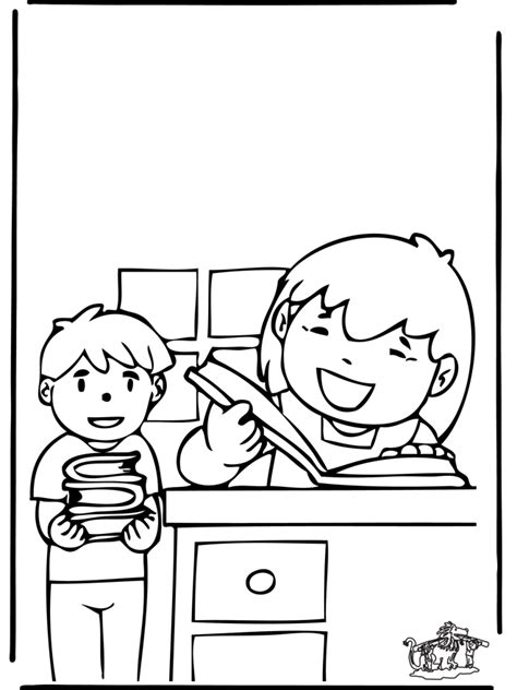imgs for gt librarian coloring page