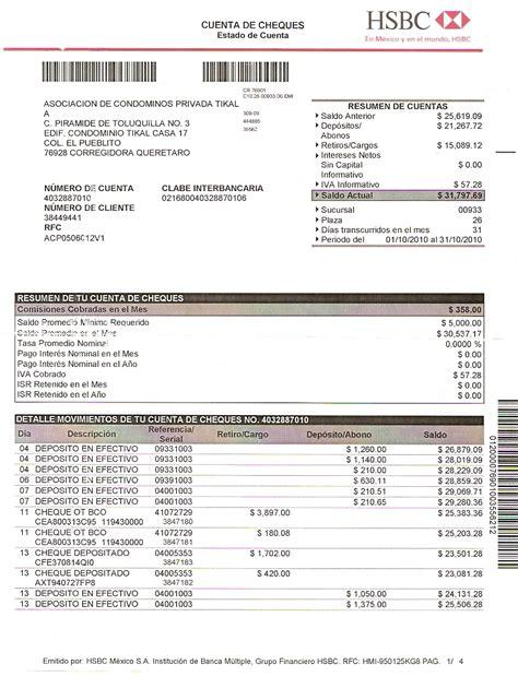 ejemplo estado de cuenta bancomer estado de cuenta privada tikal enero 2011 privada tikal
