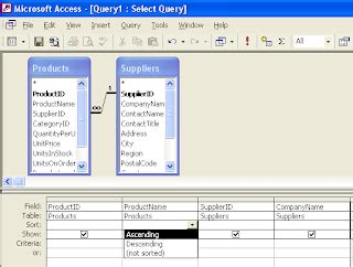 membuat query design membuat query dengan design view di microsoft access 2010