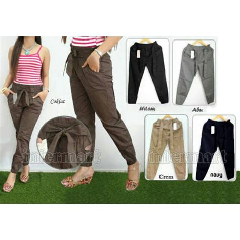 Celana Jogger Cotton Strech Coklat celana joger strit jogger cotton stretch pita