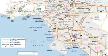 large los angeles maps for free and print high
