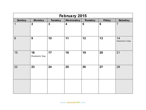 february calendar template 2015 7 best images of february 2015 calendar printable