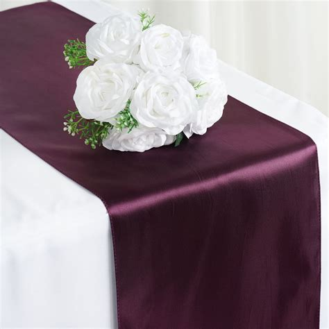 Eggplant Table Runners by Eggplant Purple Satin 12x108 Quot Table Runner Wedding